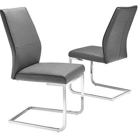Pair Of Atlanta Cantilever Dining Chairs