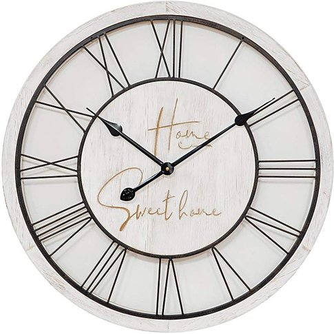 Home Sweet Home Wood And Metal Clock