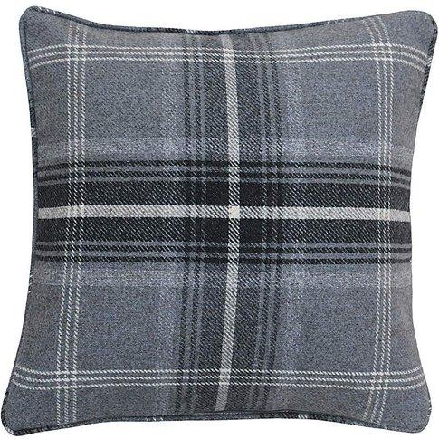 Highland Check Poly Cushion
