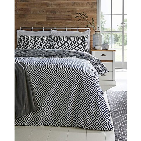 Vantona Teagan Navy Duvet Set
