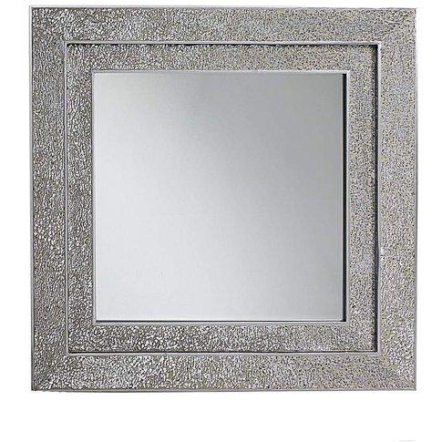 Silver Mosaic Double Frame Mirror