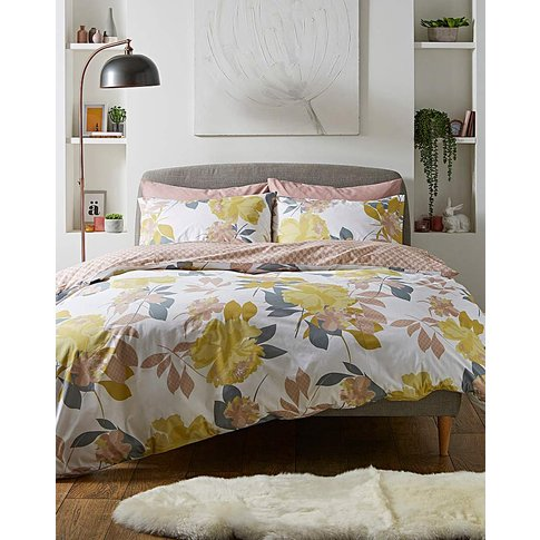 Abstract Floral Reversible Duvet Set