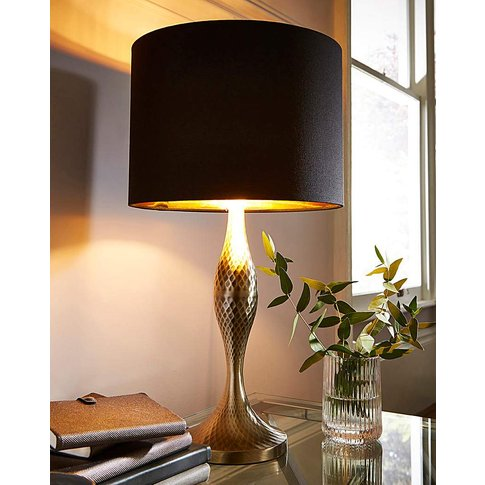 Curved Black Table Lamp