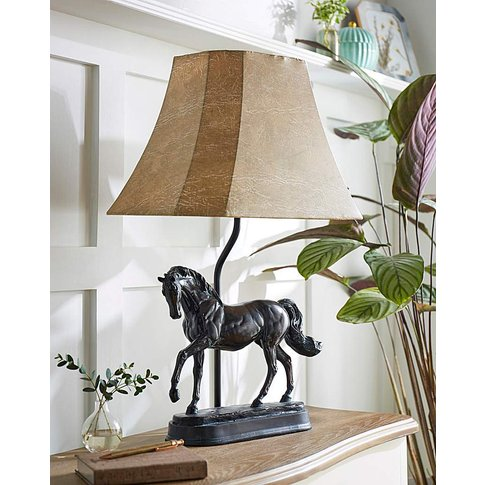Horse Base Table Lamp With Shade