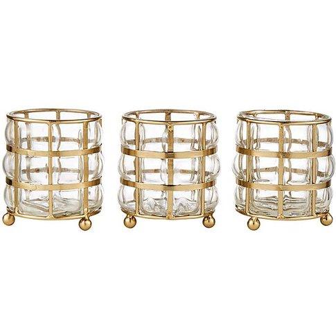 Martina Set Of 3 Tealight Holders