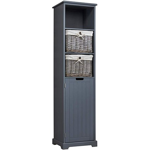 Charlotte Tall Cabinet With Baskets