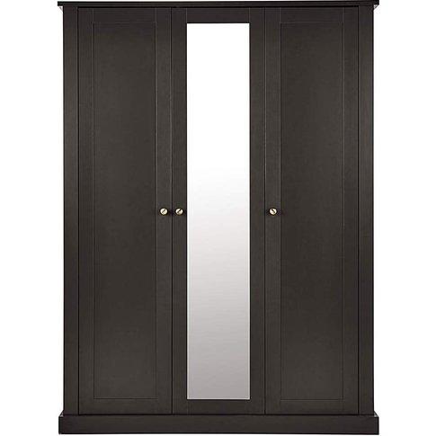 Fletcher 3 Door Wardrobe With Mirror