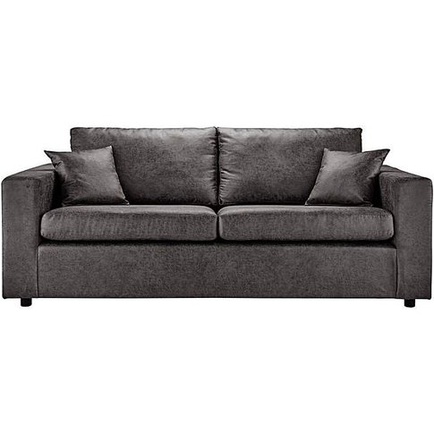 Alicante Worn Faux Leather 3 Seater Sofa