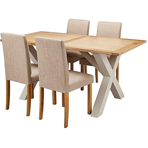 Oxford Dining Table & 4 Mia Chairs