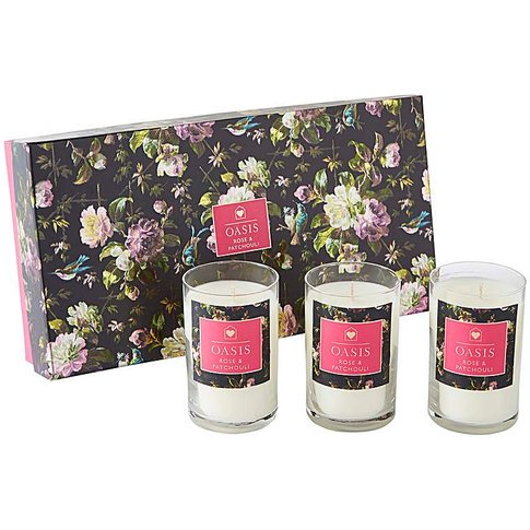 Oasis Renaissance Rose Votives Gift Set