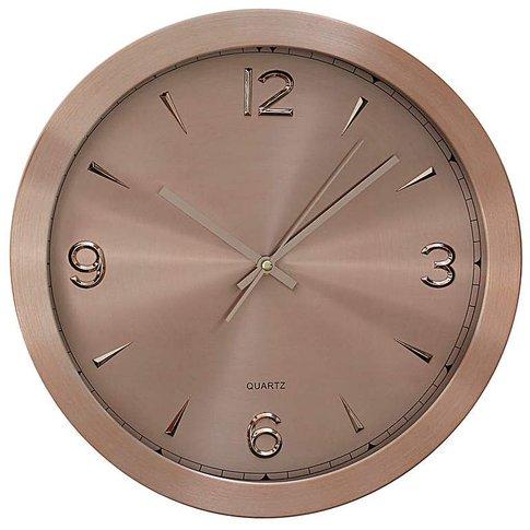 Elko Aluminium Wall Clock Copper