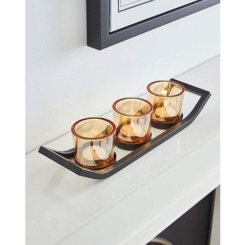 Smoked Glass Tealight Holder