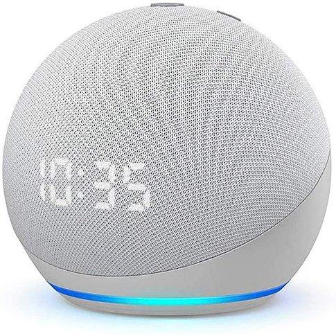 Echo Dot (4th Gen) With Alexa + Clock