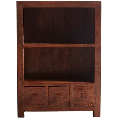 Java Acacia Wood Assembled Bookcase