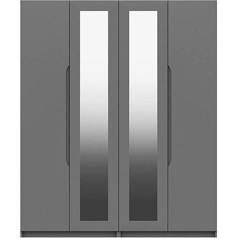 Sorrento Gloss 4 Door Mirrored Wardrobe