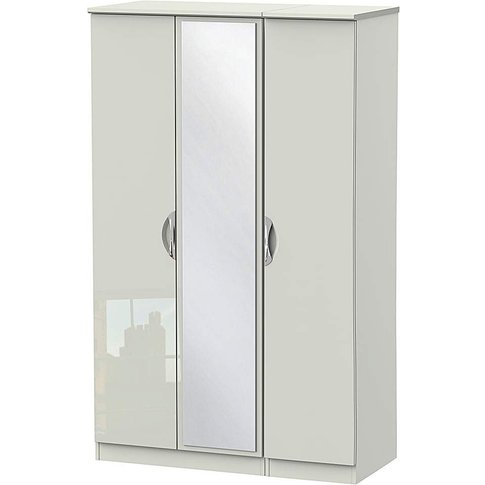 Milano Assembled Gloss 3 Door Wardrobe