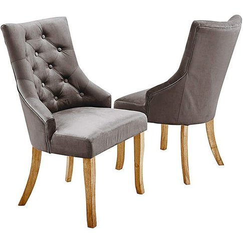 Pair Of Isabella Fabric Dining Chairs