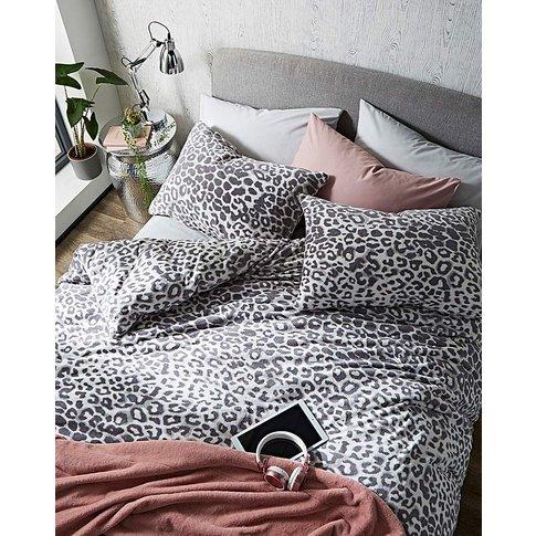 Leopard Cuddle Fleece Duvet Cover Set