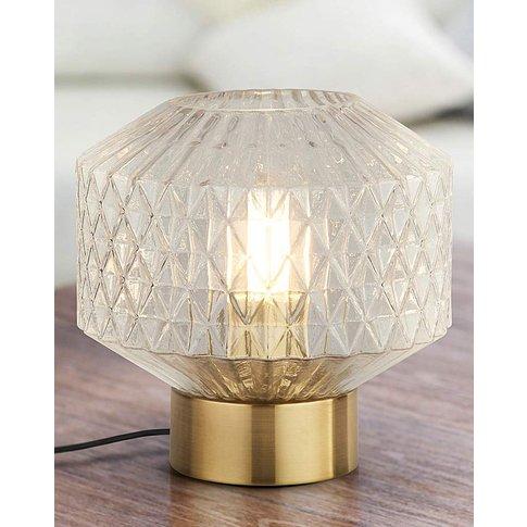 Freya Clear Glass Table Lamp