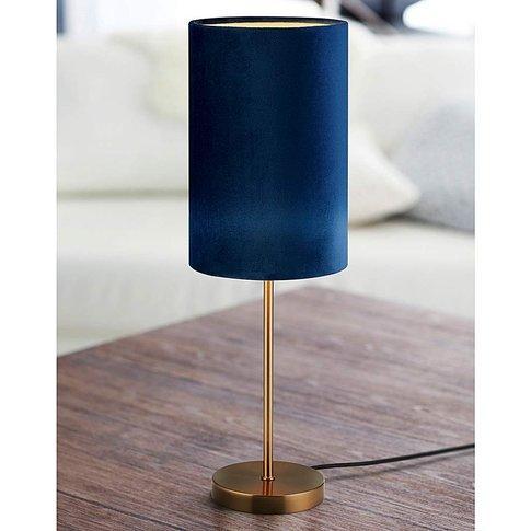 Rimini Blue Velvet Table Lamp