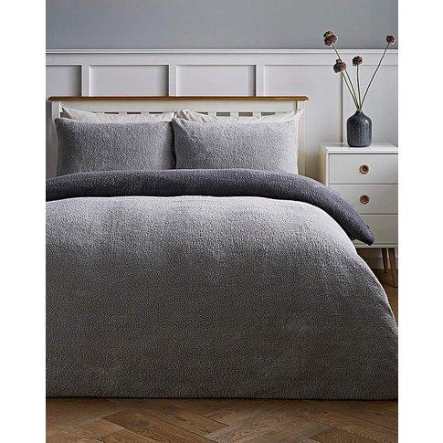 Reversible Fleece Duvet Cover Set