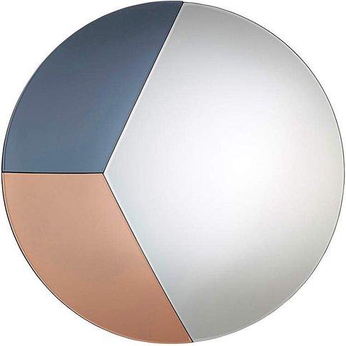 Jules Tinted Glass Circle Mirror