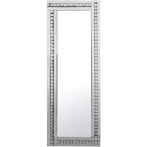 Floor Standing Mirror With Crystals