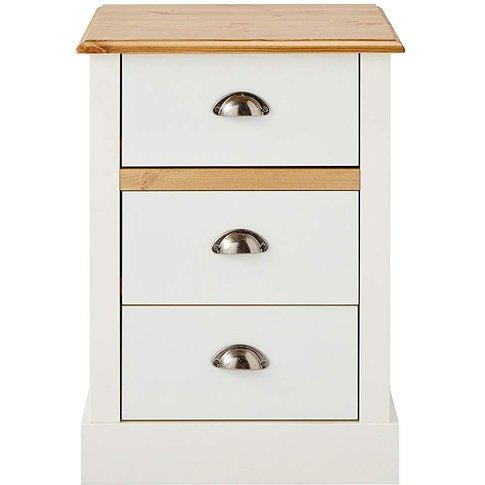 York 3 Drawer Bedside Table