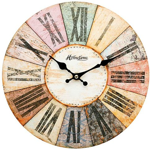 Hometime Multi Colour Wall Clock