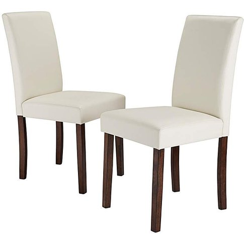 Mia Faux Leather Pair Of Dining Chairs