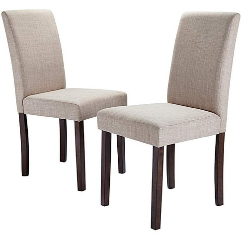 Mia Fabric Pair Of Dining Chairs