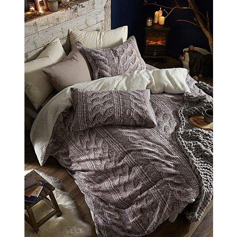Cable Knit Fleece Duvet Cover Set