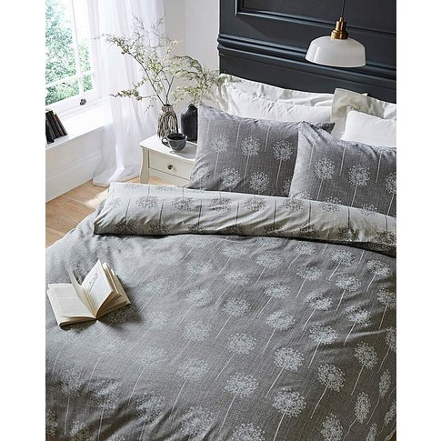 Silhouette Grey Duvet Cover Set