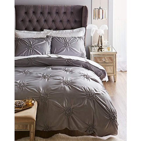 Rochelle Knots Grey Duvet Set