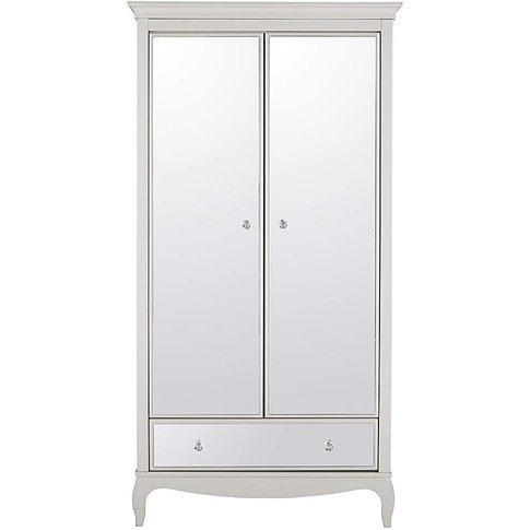 Elise Mirrored 2 Door 1 Drawer Wardrobe