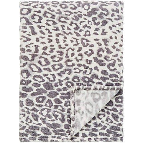 Leopard Print Fleece Throw