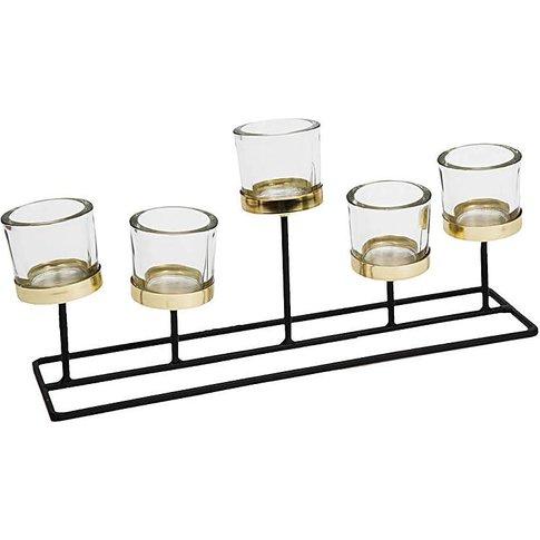 Hestia 5 Glass Tealight Holder On Stand