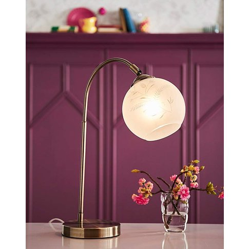 Joe Browns Floral Trail Glass Table Lamp