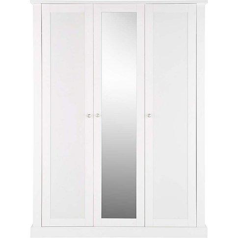 Tiverton 3 Door Wardrobe With Mirror