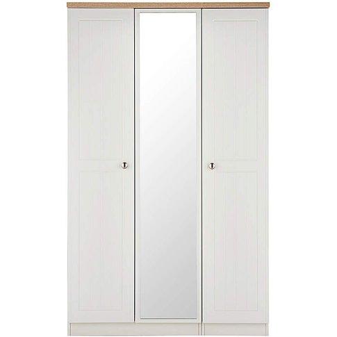Clovelley 3 Door Mirrored Wardrobe