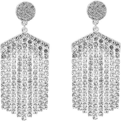 Crystal Diamond Chandelier Earring