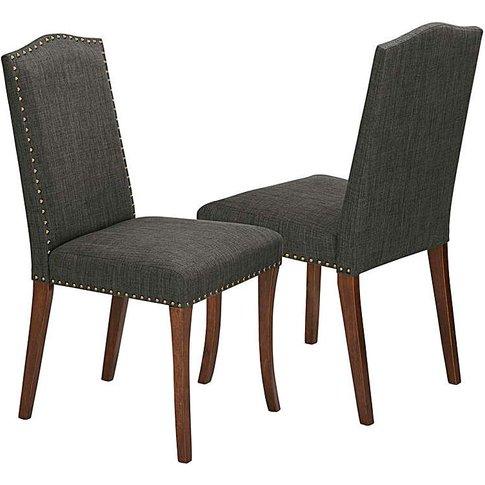 Antonia Fabric Pair Of Dining Chairs