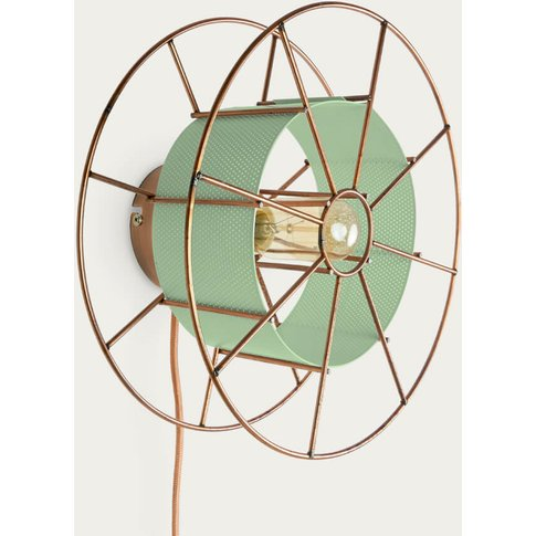 Green Wall Lamp Spool Classic