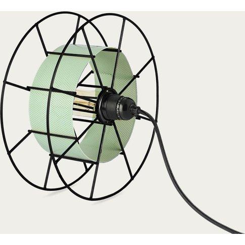 Green Floor Lamp Spool Black