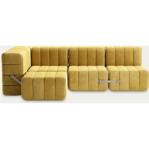 Yellow Curt Sofa System 9 Modules - Barcelona