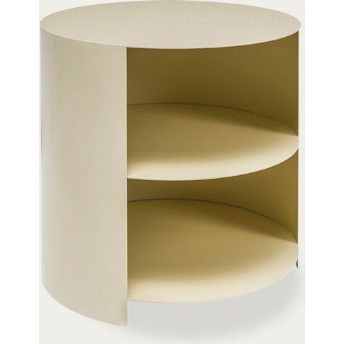 Ivory Hide Side Table