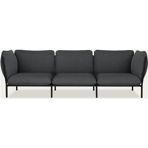 Graphite Dark Grey Kumo Modular 3-Seater Sofa By Anderssen & Voll