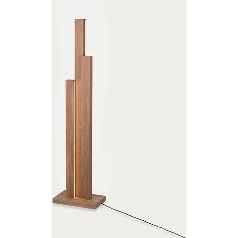 Oiled Oak Horizon I Floor Lamp