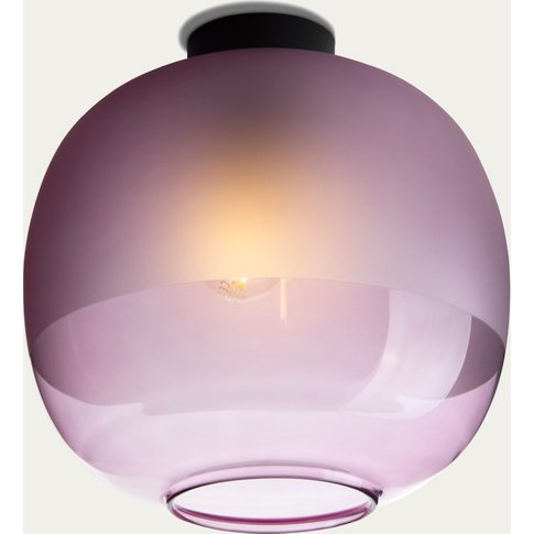 Purple Glass Bale Ceiling Lamp