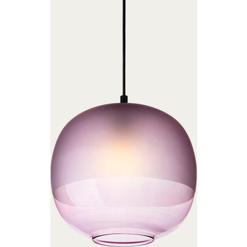Purple Glass Bale Pendant Lamp
